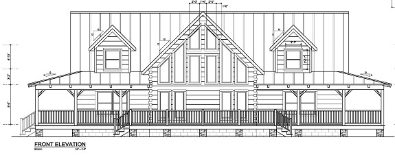 2000 2500 square feet southeastern united states log for 2000 sq ft log home plans
